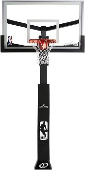 Spalding 60 Inch Glass Arena In-Ground Hoop