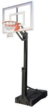 CUSTOM Portable Basketball System With Acrylic Backboard