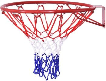 Full-Sized Solid Steel Professional Basketball Rim
