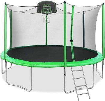 Merax Trampoline With Safety Enclosure Net
